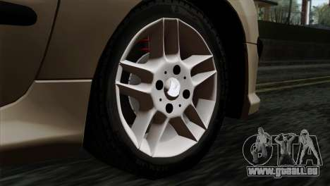 Peugeot 206 für GTA San Andreas zurück linke Ansicht