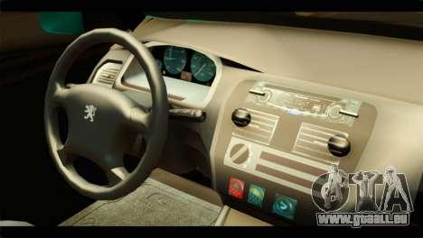 Peugeot 106 pour GTA San Andreas vue de droite