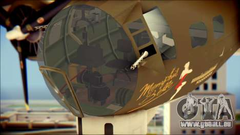 B-17G Flying Fortress für GTA San Andreas Rückansicht