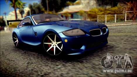 BMW Z4M Coupe 2008 für GTA San Andreas