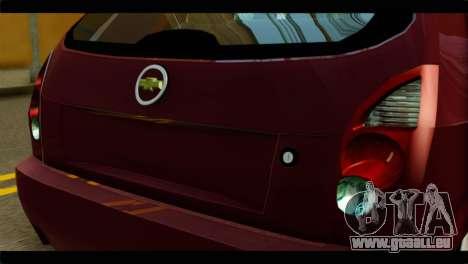 Chevrolet Celta VHC 1.0 pour GTA San Andreas vue arrière
