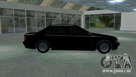 BMW 750i e38 pour GTA San Andreas laissé vue
