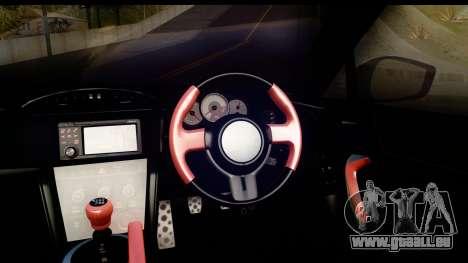 Toyota GT86 Itasha für GTA San Andreas Innenansicht