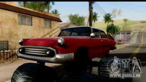 Monster Glendale pour GTA San Andreas sur la vue arrière gauche