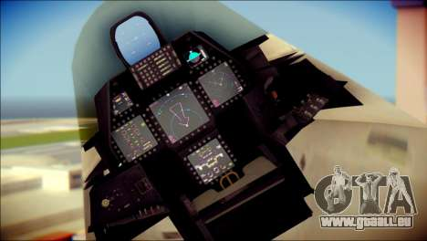 FA-18D Hornet Blue Angels pour GTA San Andreas vue de droite
