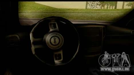 Jeep Grand Cherokee SRT8 2014 pour GTA San Andreas vue intérieure