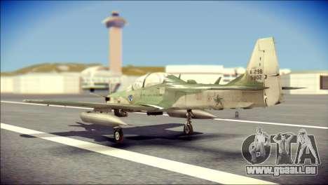Embraer EMB-314 Super Tucano E pour GTA San Andreas laissé vue