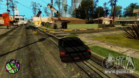 Transport V2 au lieu de balles pour GTA San Andreas deuxième écran