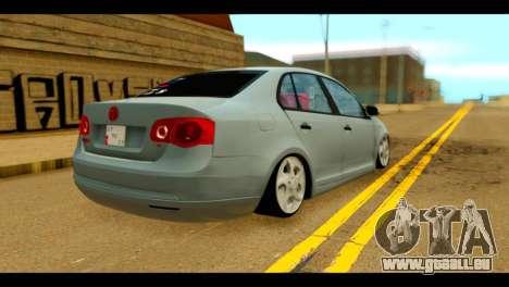 Volkswagen Bora pour GTA San Andreas laissé vue