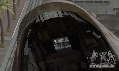 F-16XL für GTA San Andreas rechten Ansicht