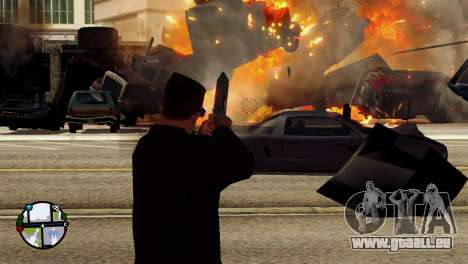 Transport V2 au lieu de balles pour GTA San Andreas