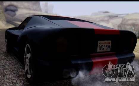 Bullet PFR v1.1 HD pour GTA San Andreas vue arrière