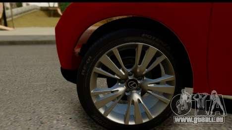 Lexus RX450h pour GTA San Andreas vue arrière