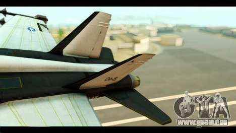 McDonnell Douglas FA-18 HARV v2 für GTA San Andreas zurück linke Ansicht