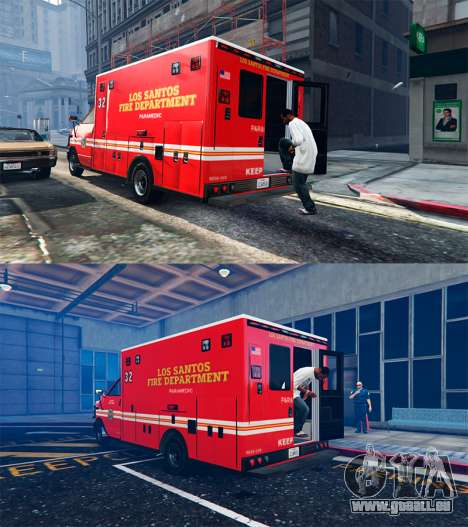 GTA 5 Ambulance v0.7.2 troisième capture d'écran