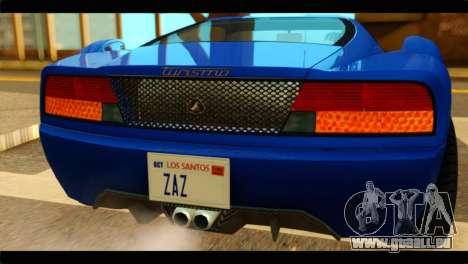 GTA 5 Grotti Turismo pour GTA San Andreas vue arrière