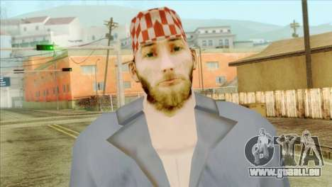 Mécanicien barbu pour GTA San Andreas troisième écran