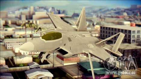 FA-18D Hornet Blue Angels für GTA San Andreas Rückansicht