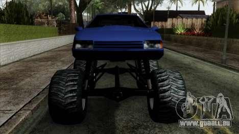Monster Cadrona pour GTA San Andreas vue arrière