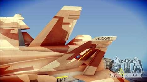 F-18D NSAWC für GTA San Andreas zurück linke Ansicht