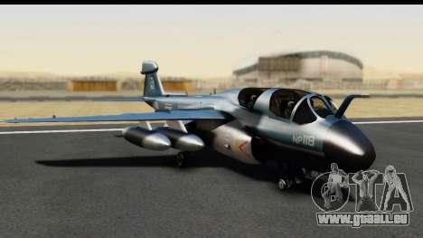 Northrop Grumman EA-6B ISAF für GTA San Andreas linke Ansicht