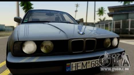 BMW 525i E34 pour GTA San Andreas sur la vue arrière gauche