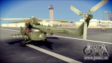Mil Mi-8 Polish Air Force Afganistan pour GTA San Andreas laissé vue