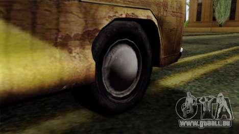 Volkswagen T2 Bob Marley für GTA San Andreas zurück linke Ansicht