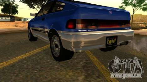 GTA 5 Dinka Blista Compact IVF pour GTA San Andreas vue de côté