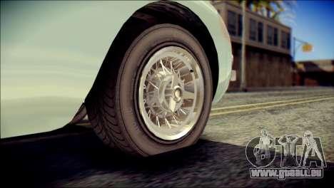GTA 5 Dewbauchee JB 700 IVF pour GTA San Andreas sur la vue arrière gauche