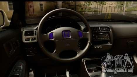Honda Civic Si Coupe pour GTA San Andreas vue intérieure