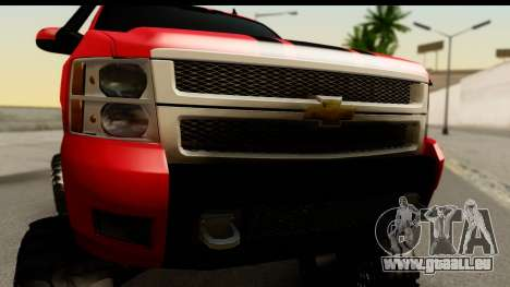 Chevrolet Silverado OffRoad für GTA San Andreas zurück linke Ansicht