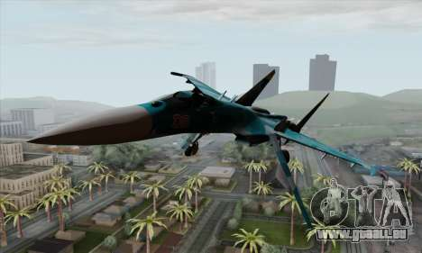 SU-27 Flanker A Warwolf Squadron für GTA San Andreas Rückansicht
