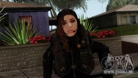 Jessica Sherawat from Resident Evil Revelations pour GTA San Andreas troisième écran