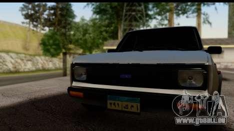 Fiat 128 pour GTA San Andreas sur la vue arrière gauche