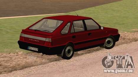 Daewoo FSO Polonez Caro Plus ABC 1999 pour GTA San Andreas sur la vue arrière gauche