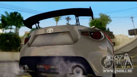 Toyota GT86 Itasha pour GTA San Andreas vue de droite