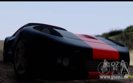 Bullet PFR v1.1 HD pour GTA San Andreas sur la vue arrière gauche