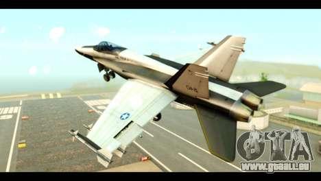 McDonnell Douglas FA-18 HARV v2 für GTA San Andreas linke Ansicht