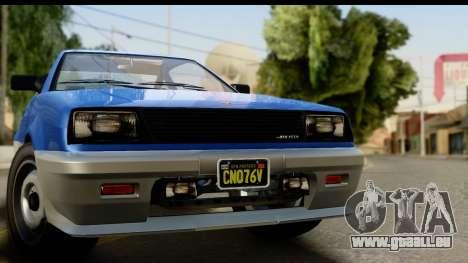GTA 5 Dinka Blista Compact IVF pour GTA San Andreas sur la vue arrière gauche
