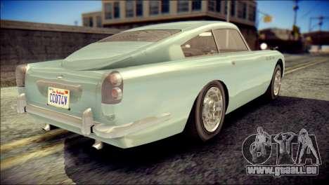 GTA 5 Dewbauchee JB 700 IVF pour GTA San Andreas laissé vue