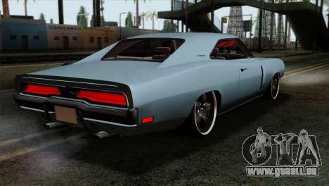 Dodge Charger RT 1970 pour GTA San Andreas laissé vue