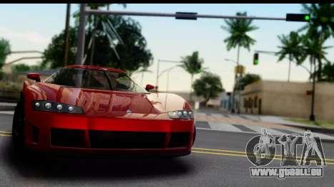 GTA 5 Overflod Entity XF pour GTA San Andreas sur la vue arrière gauche