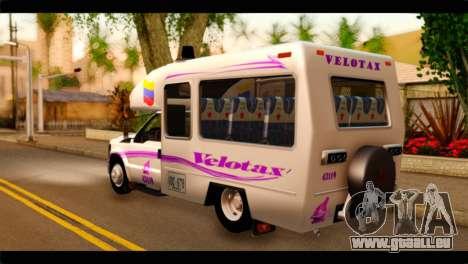 Ford F-350 Bus pour GTA San Andreas laissé vue
