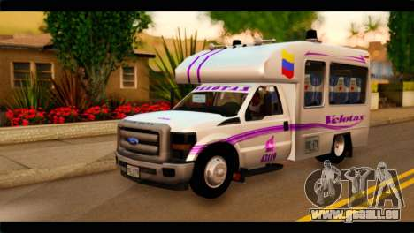 Ford F-350 Bus für GTA San Andreas