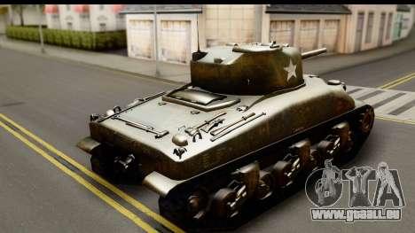 M4A1 Sherman First in Bastogne für GTA San Andreas linke Ansicht