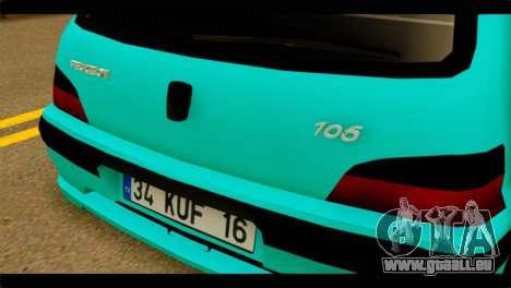 Peugeot 106 pour GTA San Andreas vue arrière