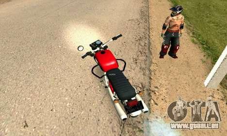 IZH Planeta-4 pour GTA San Andreas sur la vue arrière gauche