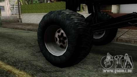 Monster Cadrona pour GTA San Andreas sur la vue arrière gauche