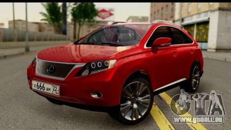 Lexus RX450h pour GTA San Andreas